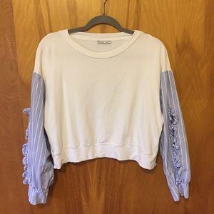 Zara white crop top